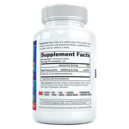 sublingual b12 supplement fact
