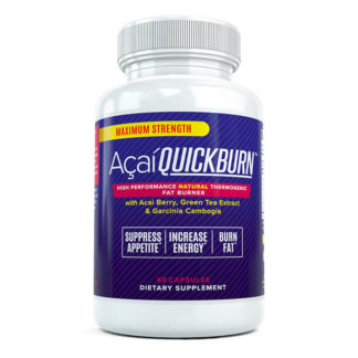 acai quick burn bottle