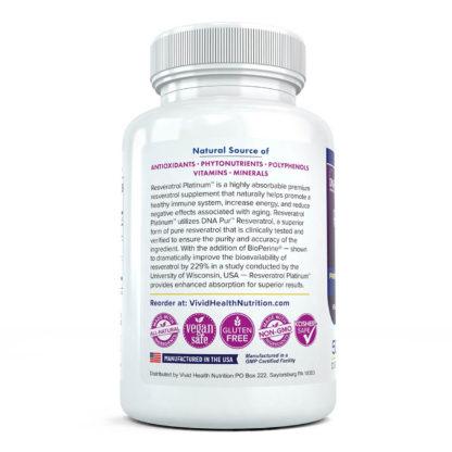 resveratrol platinum side view of label