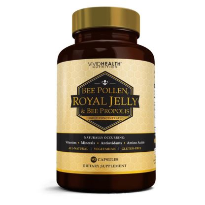 royal jelly bee pollen bottle