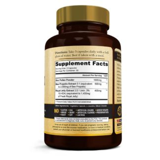 royal jelly bee pollen supplement facts