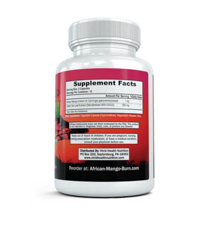 afrivan mango burn supplement facts
