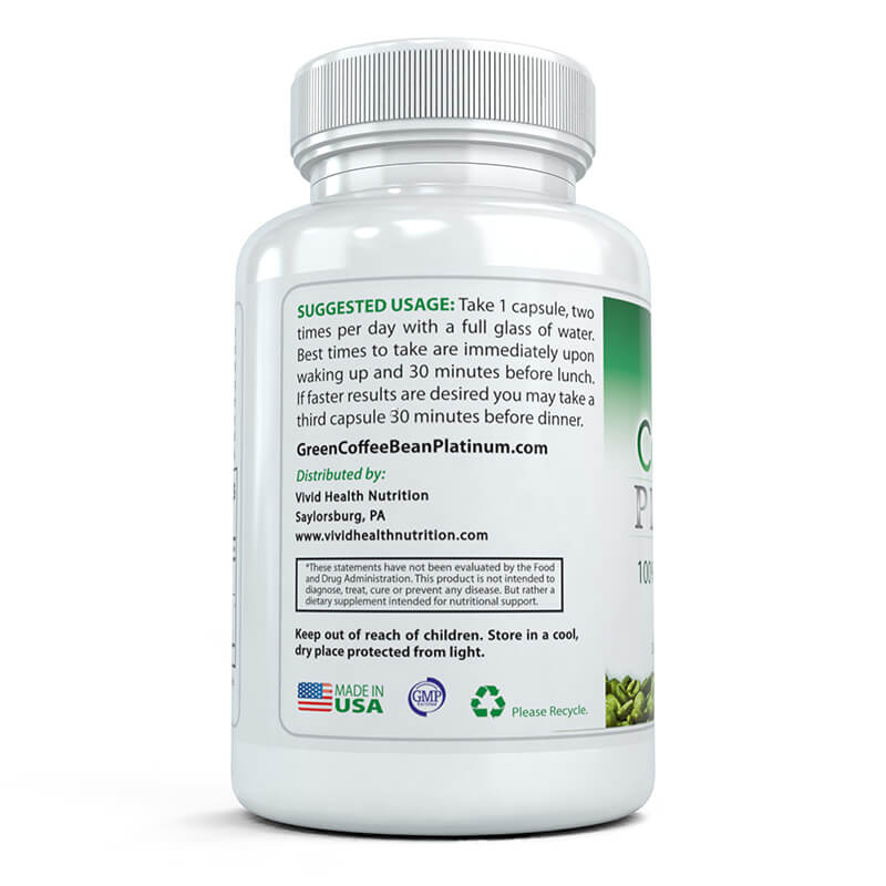 Green Coffee Bean Platinum Vivid Health Nutrition